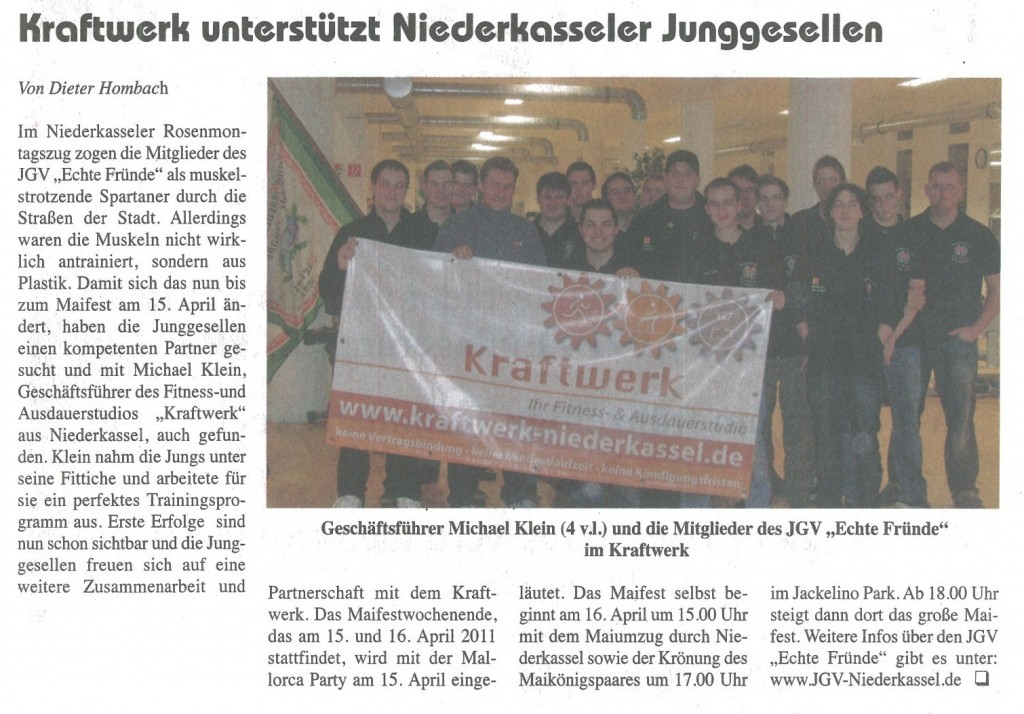 Neuer Sponsor - Kraftwerk 2012