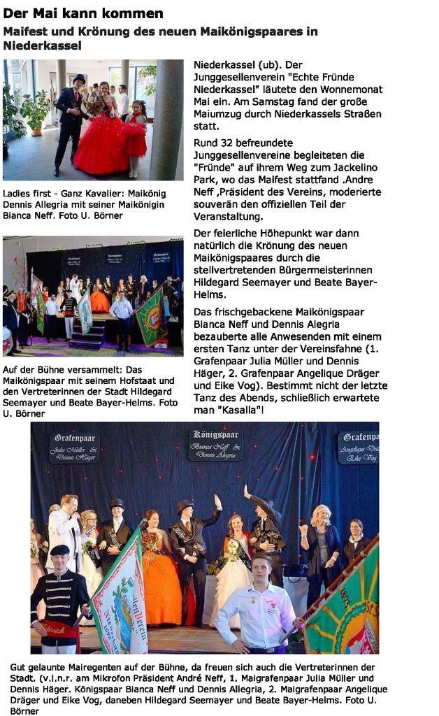Maifest 2015 Extra Blatt