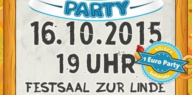 Plakat Oktoberfestparty 2015 x1024