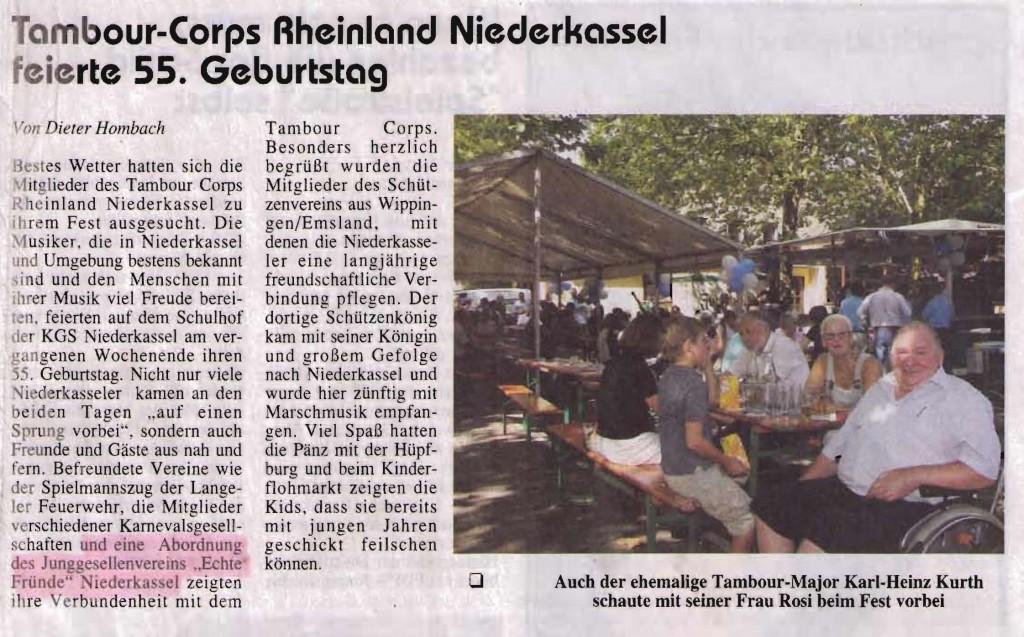 Jubiläum TC Rheinland 2009