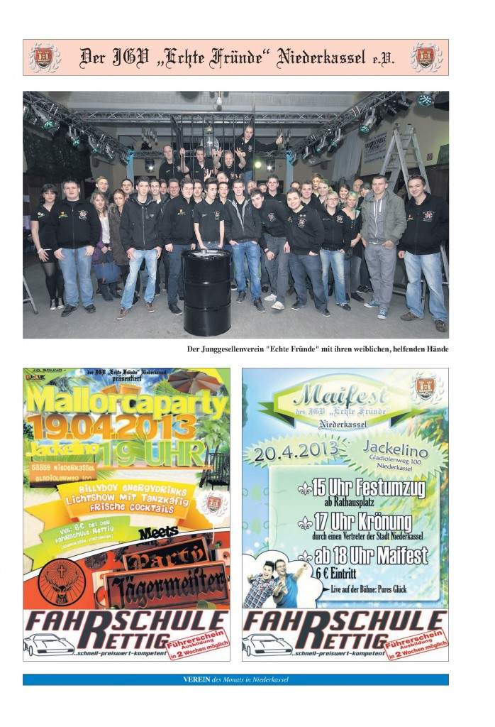 Seite 2 - Verein des Monat April 2013