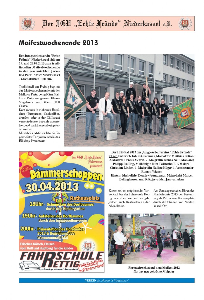 Seite 3 - Verein des Monat April 2013