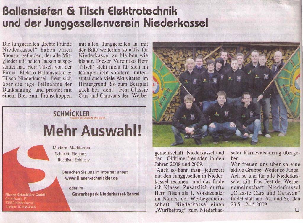 Elektrotechnik Ballensiefen & Tilsch - Neuer Sponsor
