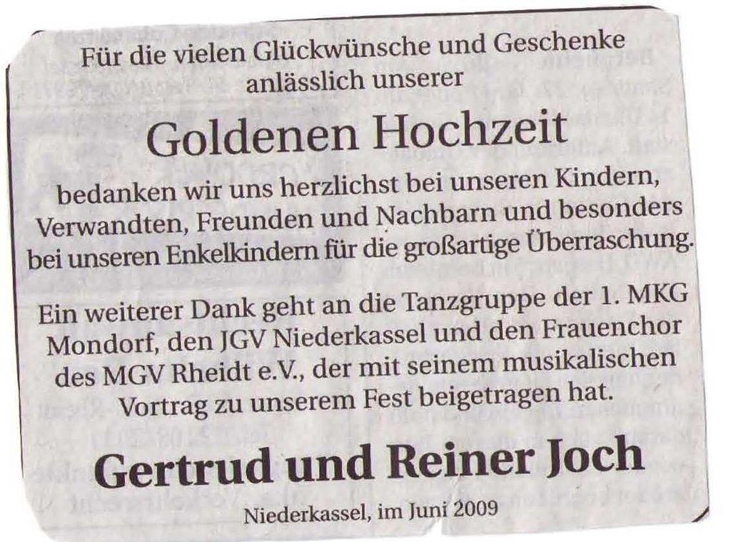Goldhochzeit 2009