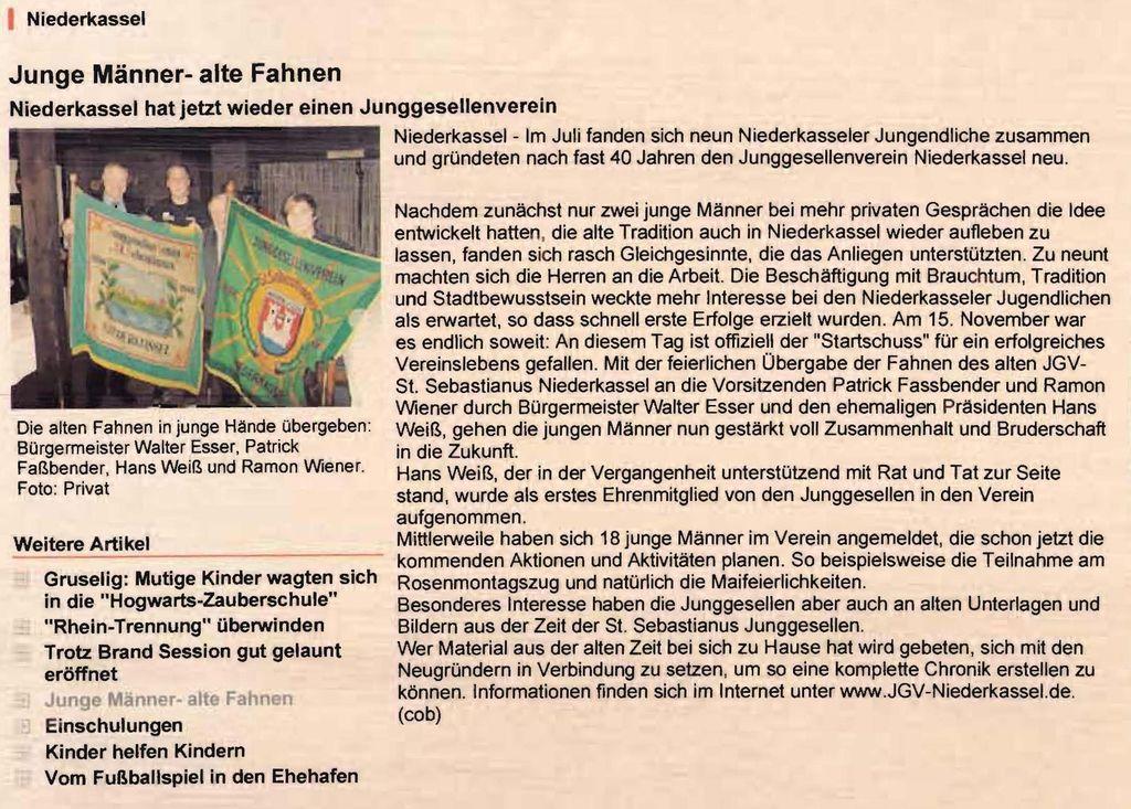 Junge Männer - Alte Fahnen 2008: