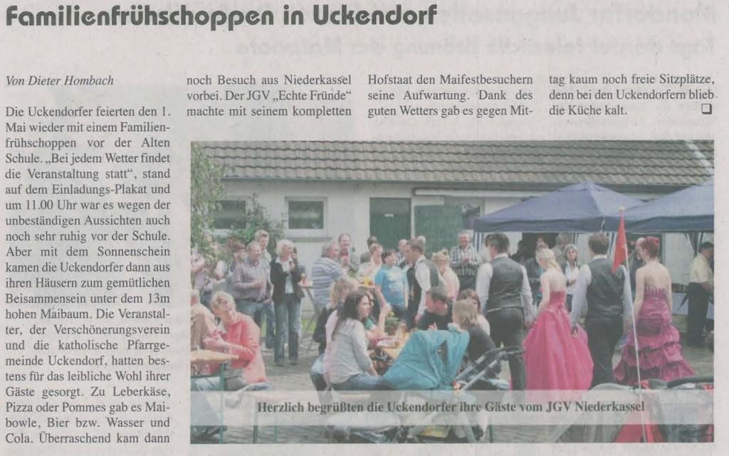 Maibesuch in Uckendorf 2012