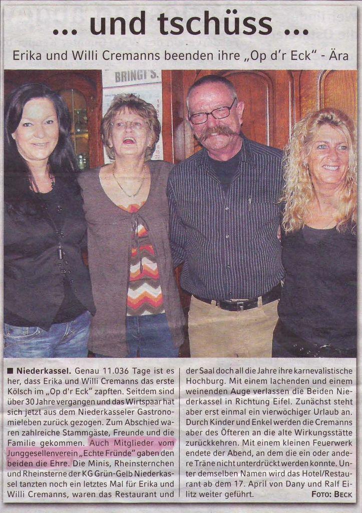 Verabschiedung Willi Op Dr Eck 2009